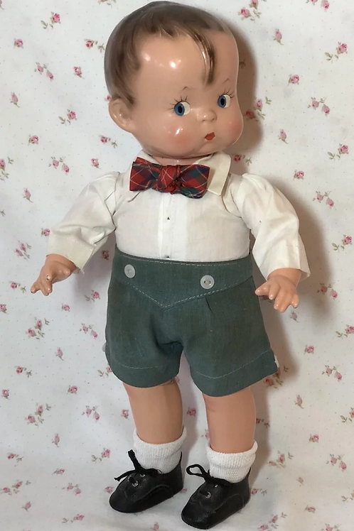 "1937 Effanbee 13"" Skippy Boy ALL Original UNPlayed with Doll -- Patsy Boyfriend"