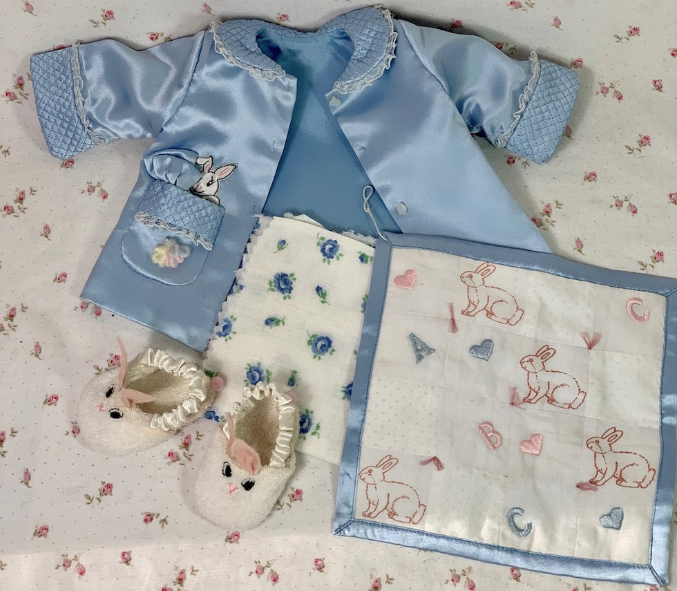 Easter Holiday Bunny Coat and Diaper Set with Rabbit Slippers