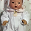 """Thumbnail: Darling Pair EASTER BUNNY RABBIT Footed Pajamas for 11"""" Tiny Tears / Dy-Dee"""