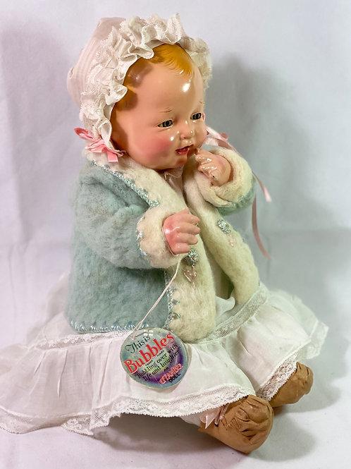 "Vintage 1924 Effanbee 19"" Bubbles Composition All Original Baby Doll"
