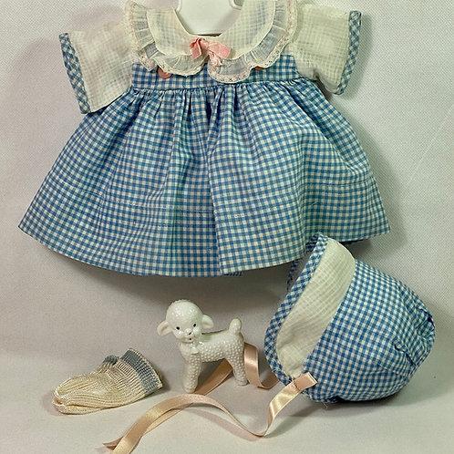 "Original Effanbee 15"" Dy-Dee Dress Set -- Blue Gingham"