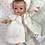 Thumbnail: Eiderdown Effanbee Dy-Dee Lou WHITE Coat & Bonnet & Socks Set