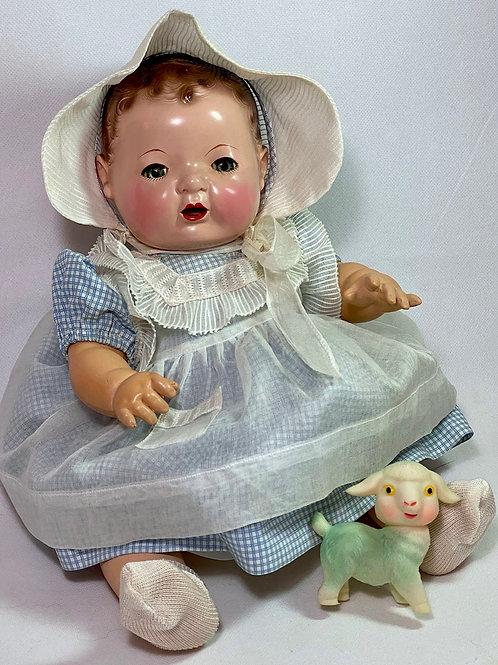 """MINT Vintage 1930s Effanbee 15"""" Dy-Dee Doll Dress"""