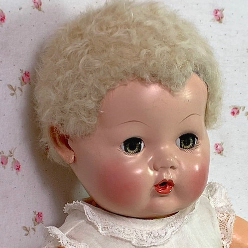 "Vintage RARE True Blond 1940s Effanbee 11"" Dy-Dee Ellen Baby Doll in Box"