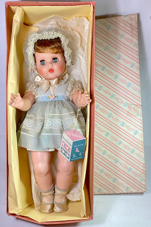 "1950s American Character 23"" Baby Toodles with Peek-A-Boo Eyes Mint in Box"