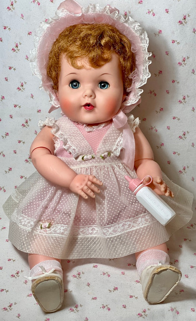 """1950s American Character 20"""" Toodles 'Action' Baby with Golden Red Curls"""