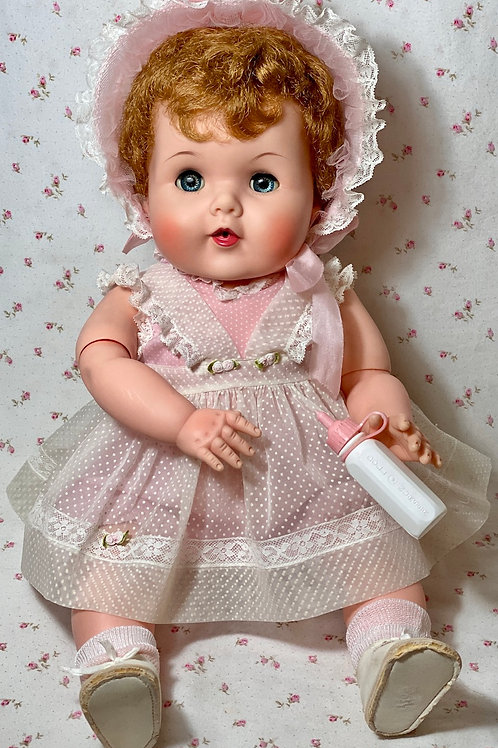"1950s American Character 20"" Toodles 'Action' Baby with Golden Red Curls"