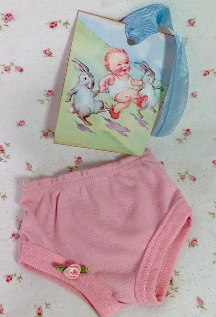"Vintage NOS PINK Underwear Panties for 13"" to 16"" Dolls"