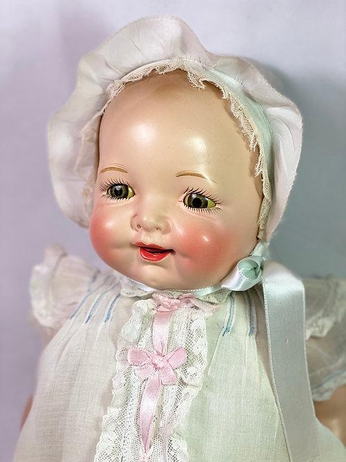 "1930s Vintage 23"" Averill Madame Hendren Composition BABY BRITE Doll"