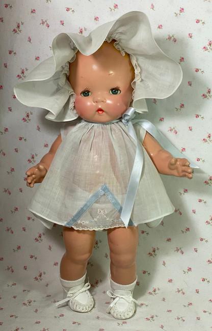 "Gorgeous Sleepy Eyed * Harriet Flanders 1937 Compo 17"" LITTLE CHERUB Baby"