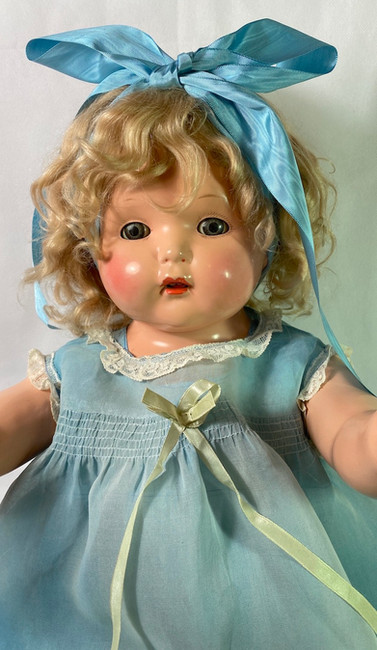 """1930s Effanbee 30"""" Composition Talking Mae Starr Phonograph Doll"""