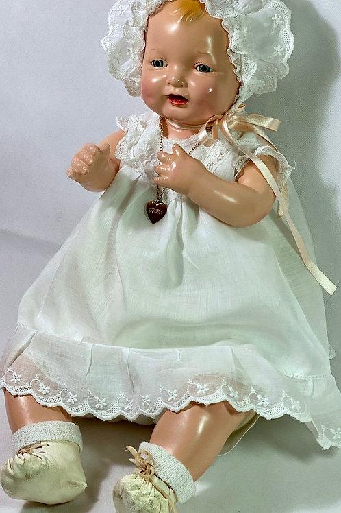 "Vintage 1924 Effanbee 23"" Bubbles Composition All Original Baby Doll"