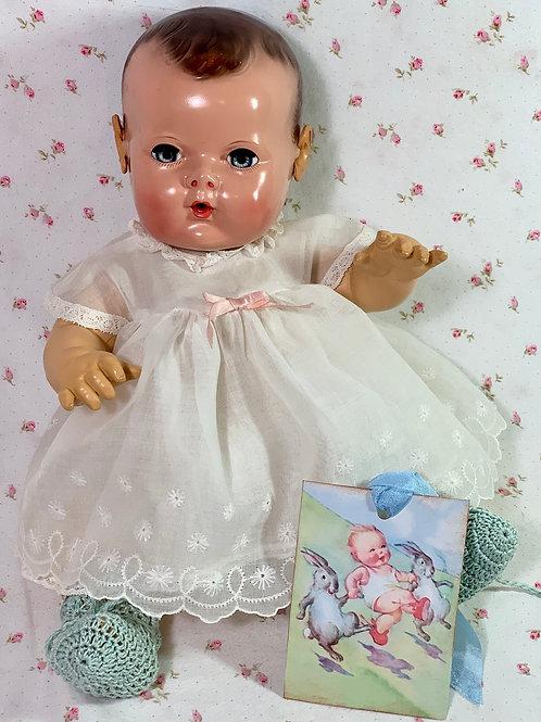 RARE Effanbee Dy-Dee Jane Doll 1930s White Dress