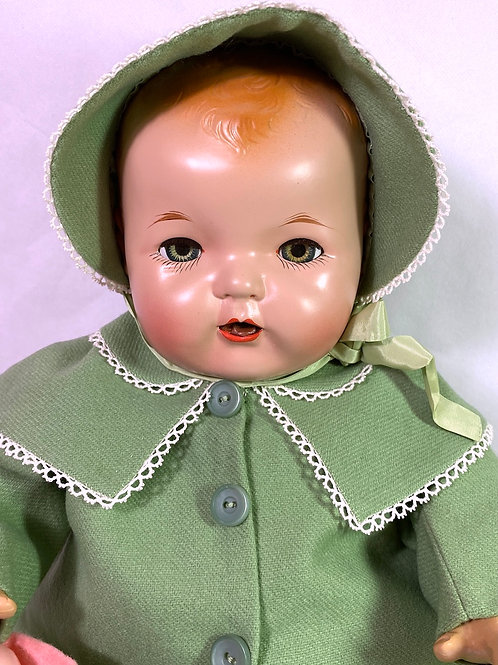 """Vintage 1930s Effanbee 20"""" Mold 1 Blonde Dy-Dee LOU Baby Doll"""
