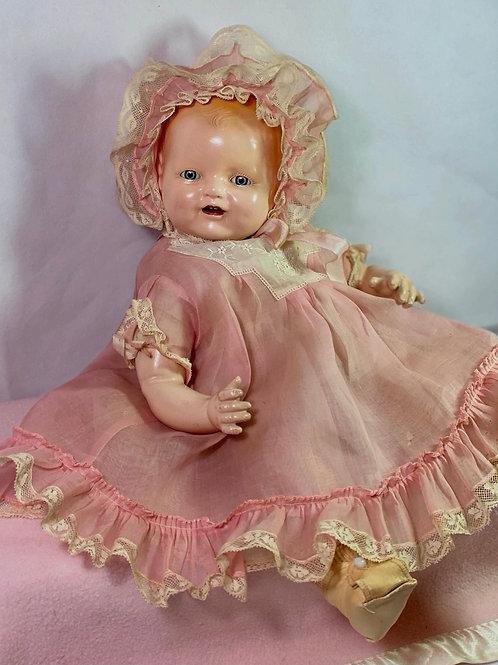 "Vintage 1928 Horsman 16"" Baby Dimples Composition Doll"