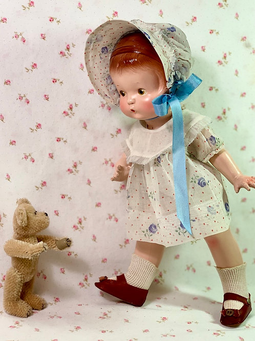 "Vintage RARE Pre-Patent Effanbee 13"" Patsy Compo Doll 1930s"