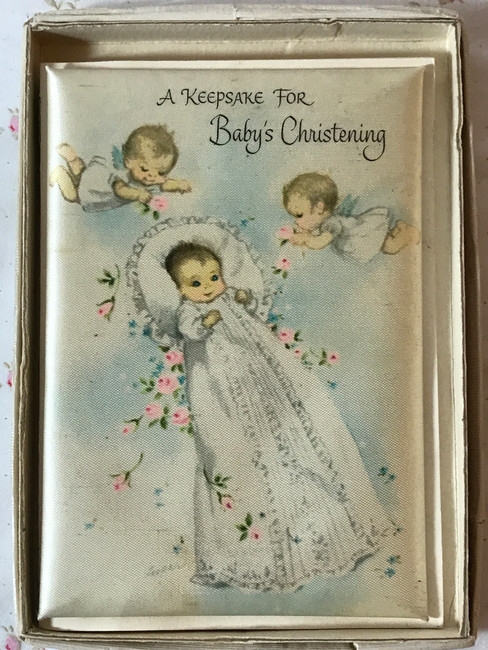 1940's Baby's Christening Keepsake Book for Dolls