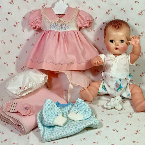 """Early 1950's American Character 13.5"""" TINY TEARS Doll"""