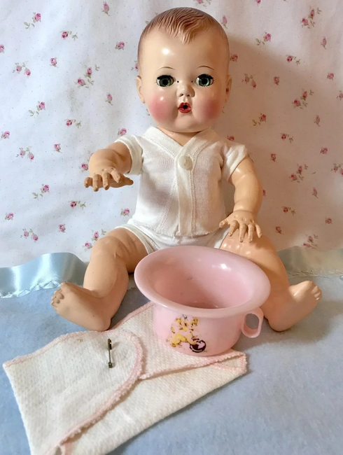 SUPER RARE * 1948 American Character POTTY for Tiny Tears