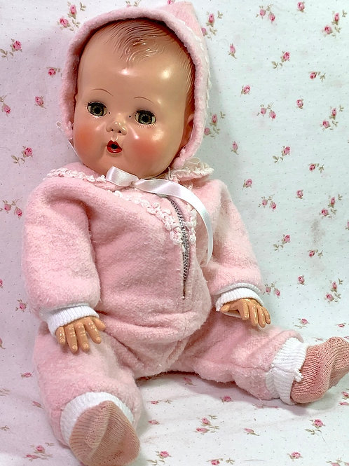 """Vintage Original 13"""" Effanbee Dy-Dee Ellen Snow Suit Snowsuit Fits Tiny Tears"""