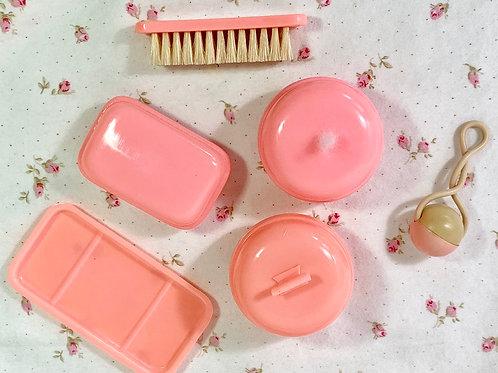 Vintage Effanbee Dy-Dee Doll Pink Celluloid Nursery Set