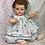 "Thumbnail: 18"" to 20"" Easter Bunny Dress Set for Vintage Dy-Dee and Tiny Tears Baby"