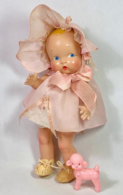 "Gorgeous Painted Eye * Harriet Flanders 1937 Compo 11"" LITTLE CHERUB Baby"