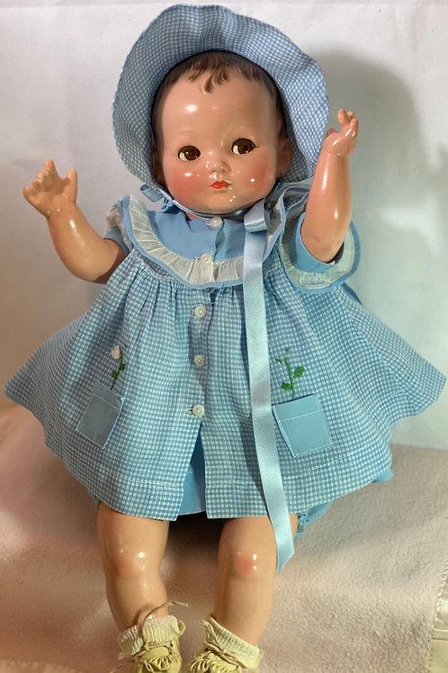 """Vintage 22"""" Effanbee 1940's Baby BRIGHT EYES - All Original"""