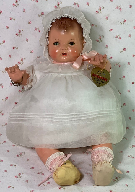 "1925 Effanbee 17"" Baby Evelyn Composition Doll"