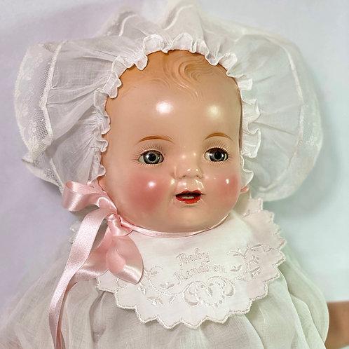 """1930 Vintage 22"""" Averill Madame Hendren Composition BABY HENDREN Doll"""