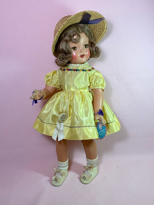 """1930s Horsman 20"""" Bright Star Composition Doll Shirley Temple LAL"""