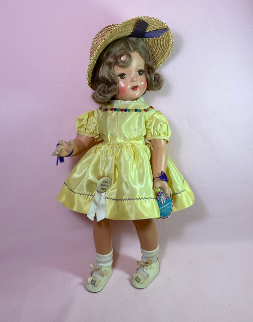 "1930s Horsman 20"" Bright Star Composition Doll Shirley Temple LAL"