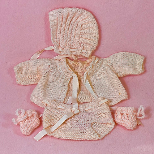 Vintage 1930s Doll Sweater Set