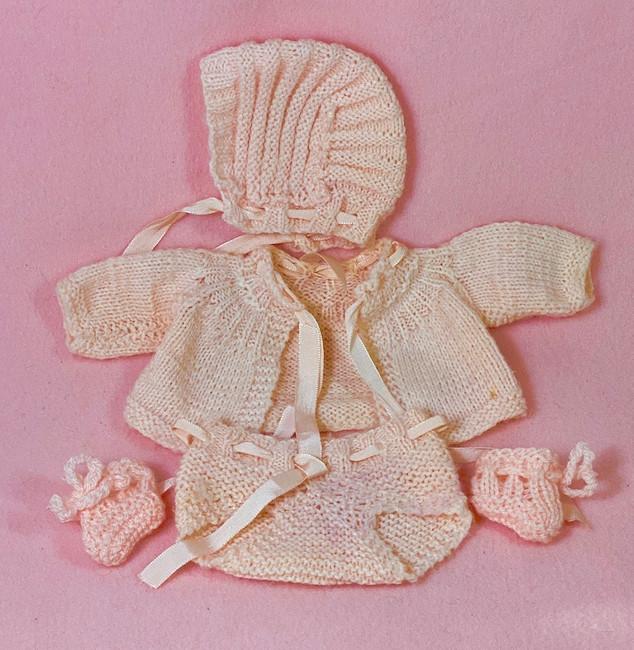 Vintage 1930s Doll Sweater Set