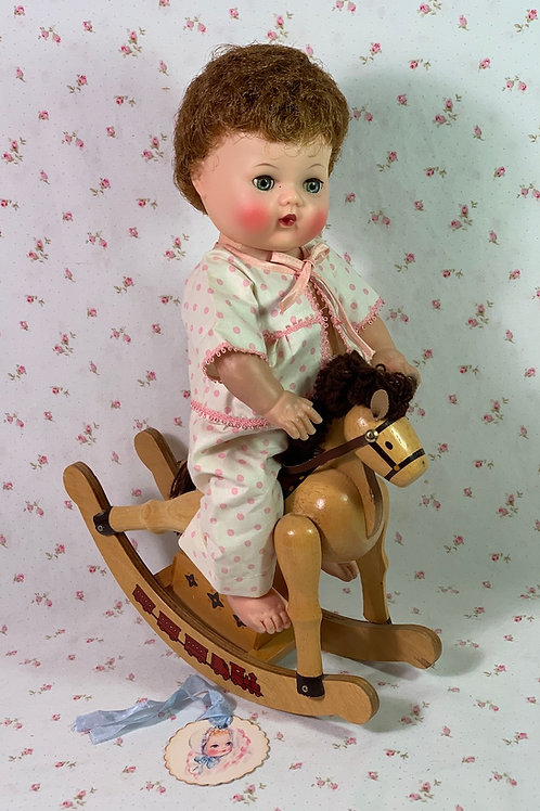 Ride 'em Cowgirl Music Box Rocking Horse for Doll