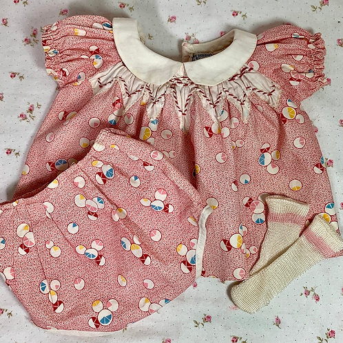RARE 1930s Tagged Molly'es Dress Set for Patsy Ann Shirley, Dy-Dee