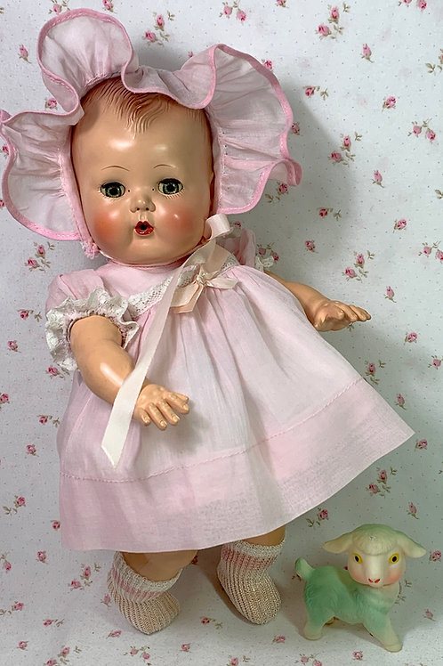 """1950s Tiny Tears Pink Party Dress Set for your 13"""" to 14"""" Baby Doll"""