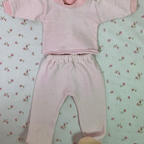 """Vintage Healthknit Pink Footed Pajamas for 15"""" to 18"""" Tiny Tears Dy-De"""