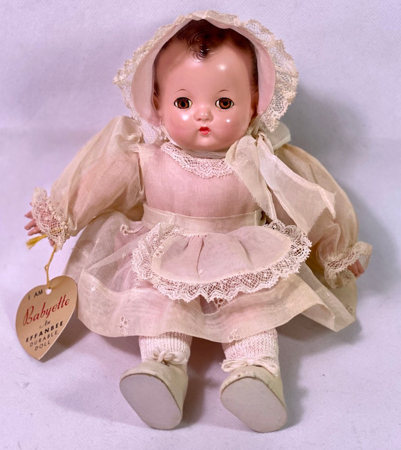 """1930s Early Effanbee 8"""" Patsy Babyette Infant"""
