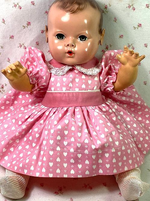 """Vintage Original Effanbee Factory 15"""" Dy-Dee Jane Dress"""