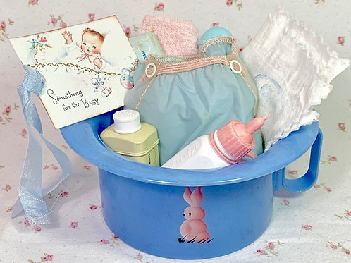 """Vintage Dy-dee Tiny Tears Blue Bunny Rabbit Potty with """"Essentials"""""""