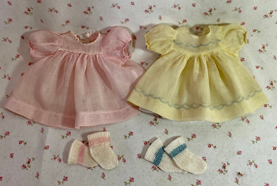 """3 Dresses for your 11"""" to 12"""" Tiny Tears Baby"""