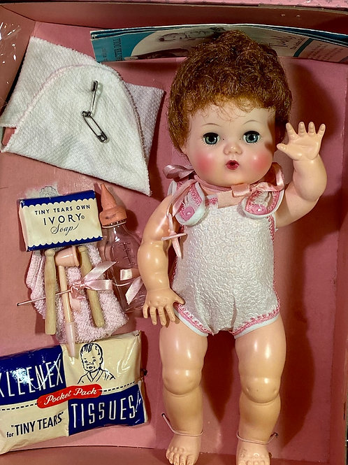 "1950s American Character 11"" Tiny Tears Baby Doll in Case"