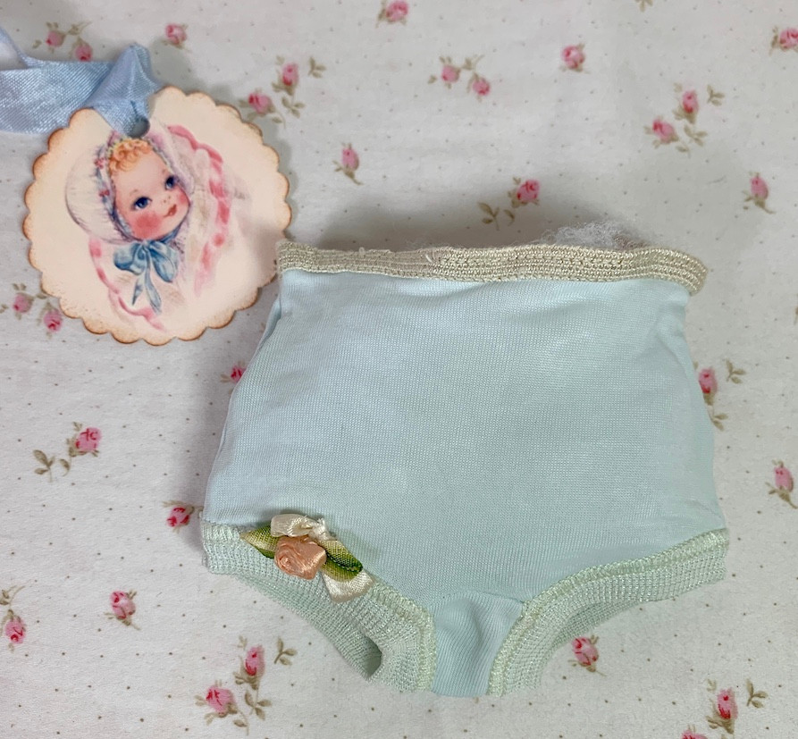 """Vintage 1950s Blue Panties for 11"""" to 13"""" Baby Dolls Tiny Tears"""