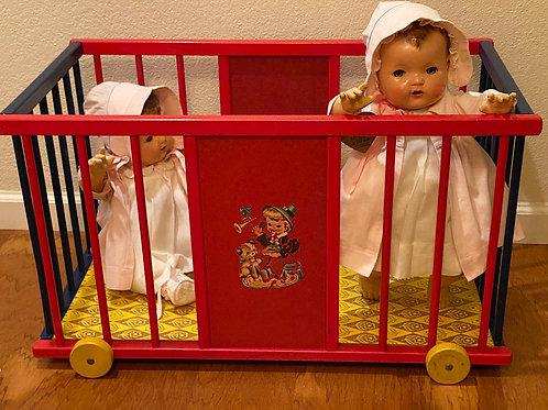 RARE FAO Schwarz Effanbee Dy-Dee Doll CIRCUS WAGON Playpen