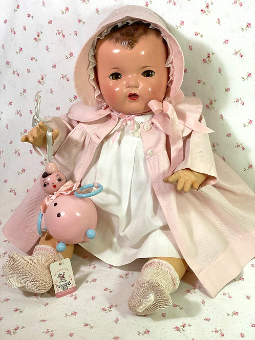Darling 1940s Toy Rattle for Dy-Dee Lou and Baby Dolls