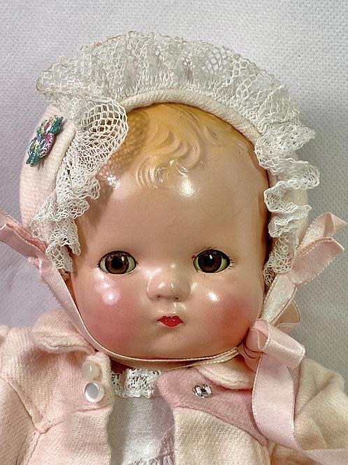 """1930s Vintage Effanbee 10"""" Patsy Babykin Blond"""