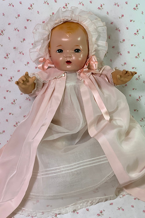 "BLOND Vintage 1930s Effanbee 20"" Mold 1 Dy-Dee LOU Baby Doll"