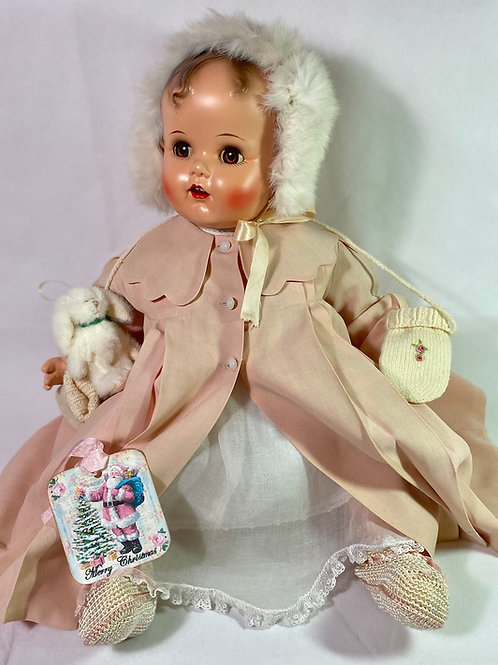 """RARE 24"""" Vintage 1947 Composition Ideal Baby Beautiful Doll"""