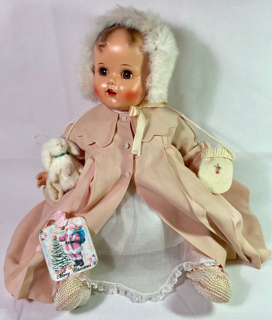 "RARE 24"" Vintage 1947 Composition Ideal Baby Beautiful Doll"